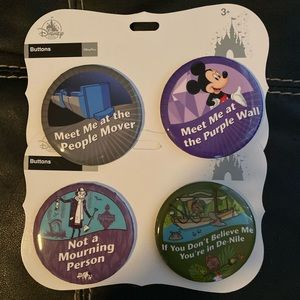 Disney Parks Funny Full-size Button 4-pack